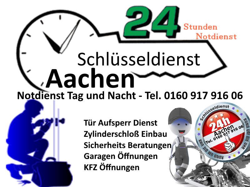 Schlüsseldienst Aachen zum Notdienst Festpreis Tag und Nacht