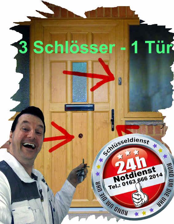 Schlüsseldienst Würselen - 3 Schlösser auf einer Tür - Kein Problem ! Versprochen !