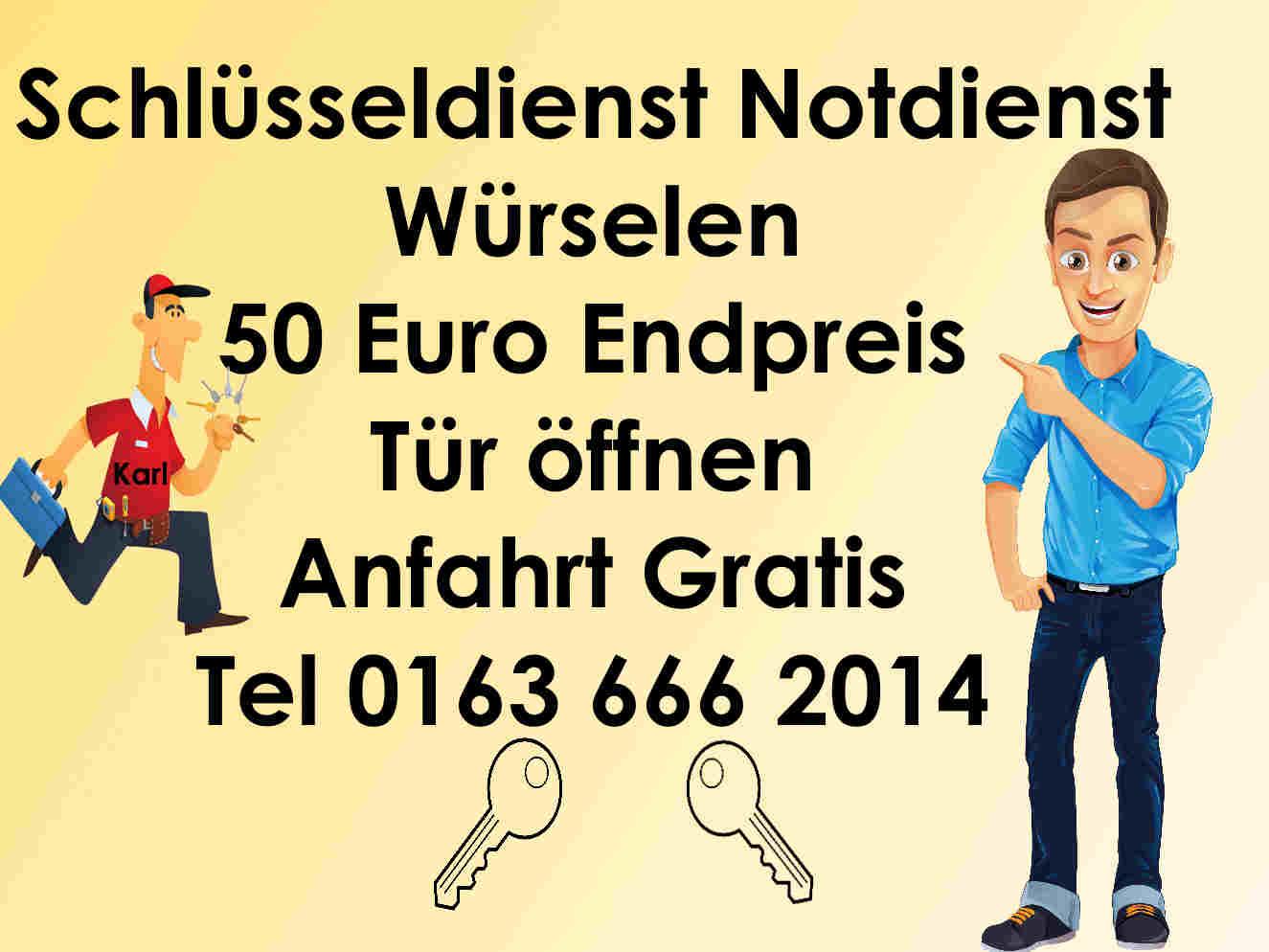 Schlüsseldienst Notdienst Würselen 50 Euro